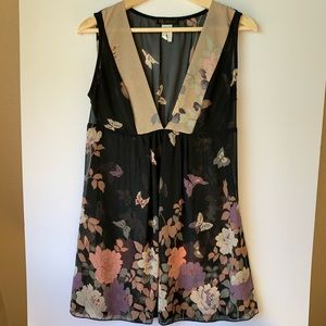 Urban Outfitters KLD Signature Floral Sheer Dress